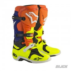 Alpinestars Tech10 Orange/Fluor Blue/White/Fluor Yellow